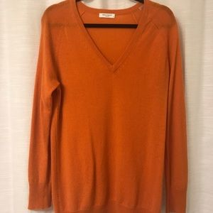 Equipment Orange Cashmere Sweater size S